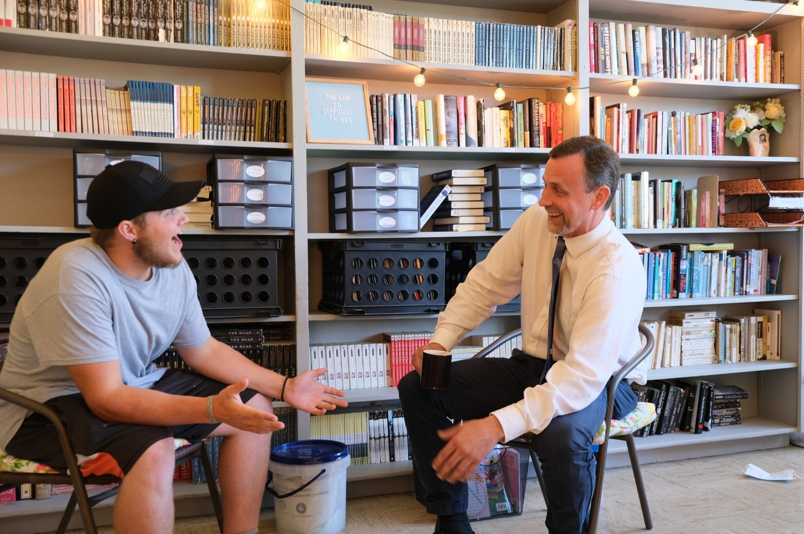 Superintendent Marc Thielman with Student | Mark For Oregon Governor